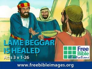 Lame beggar healed