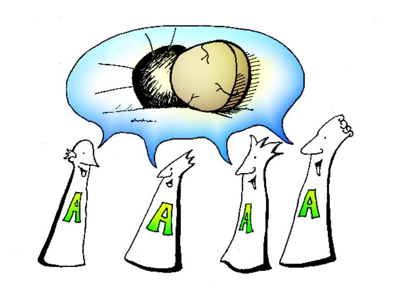 Apostel reden über Auferstehung