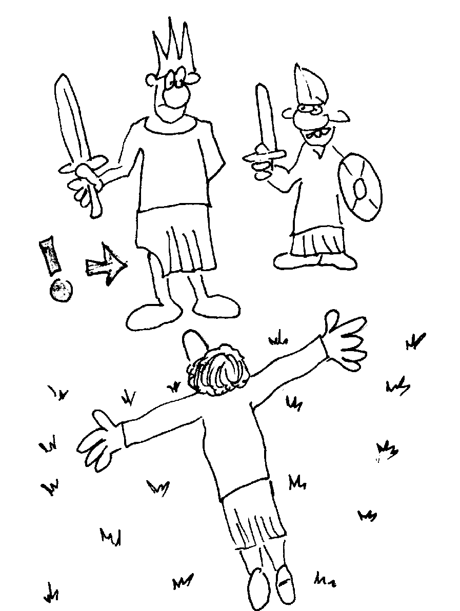 Coloring pages for jonathan and david - Coloring Sheet David And Jonathan David Spares Saul Coloring Page Coloring Pages