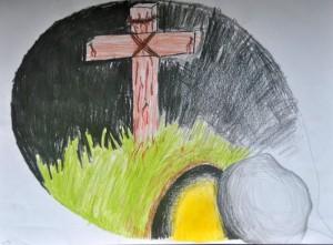 08 Jesus gekreuzigt gestorben begraben und auferstanden